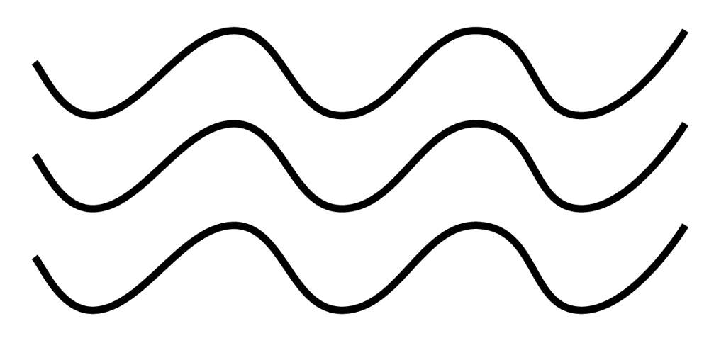 Картинка волнообразные линии